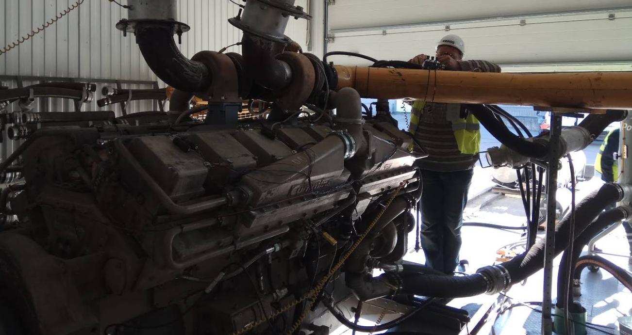 Проверка на моторном стенде газодизельного двигателя CUMMINS KTA50